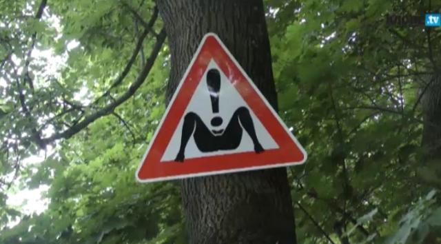 Самодельный необычный дорожный указатель