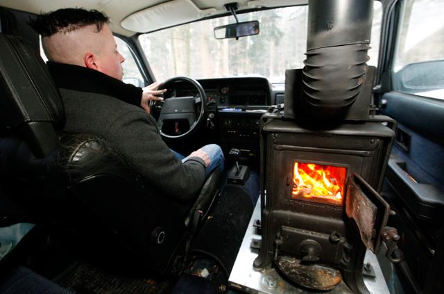Настоящая печь в автомобиле