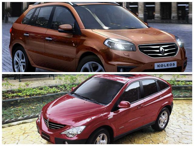 Сравнение автомобилей Renault Koleos и SsangYong Action