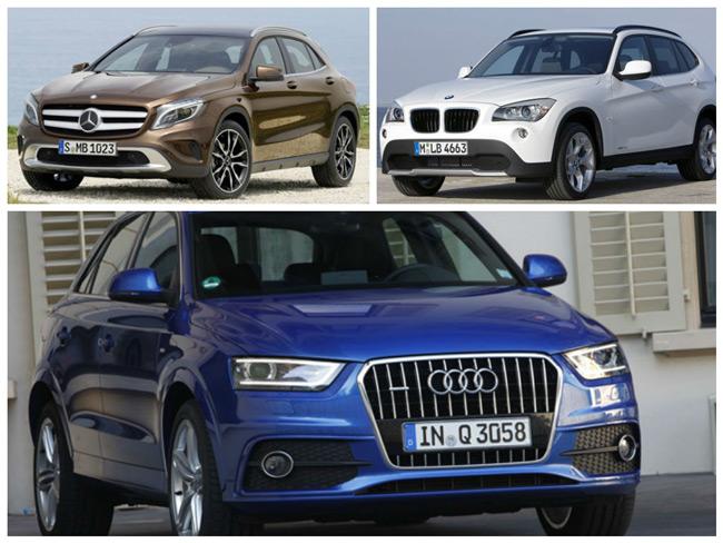 Сравнение Mercedes GLA с Audi Q3 и BMW X1