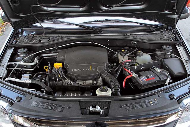 Под капотом автомобиля Renault Logan