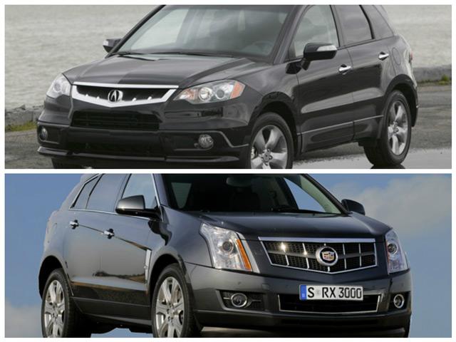 Сравнение автомобилей Acura RDX и Cadilac SRX