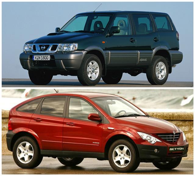 Сравнение автомобилей Ниссан Террано и СангЙонг Актион