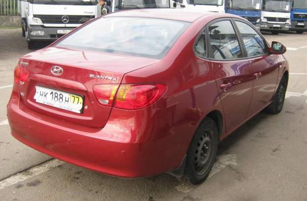 Автомобиль Hyundai Elantra: вид сзади