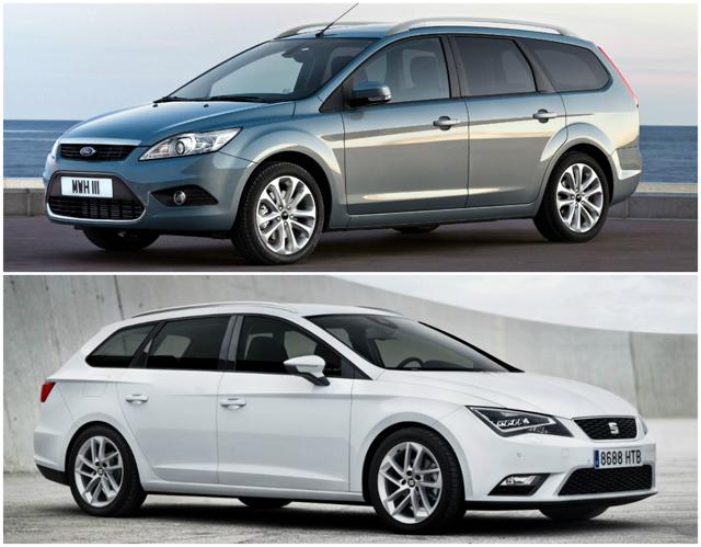 Сравнение автомобилей Ford Focus Wagon и Seat Leon ST FR