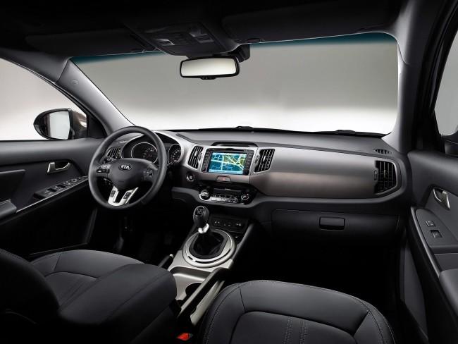 Салон автомобиля Киа Спортейдж подчёркивает высокий статус владельца