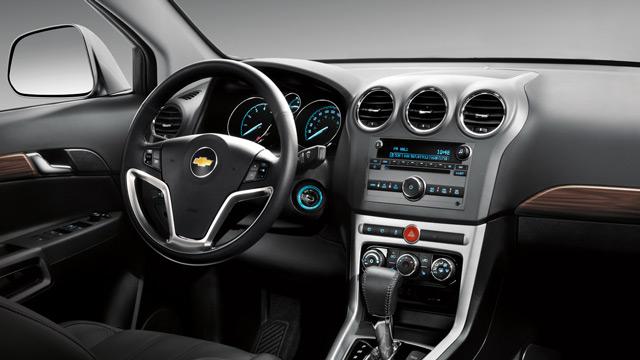 В салоне Chevrolet Captiva просторно и комфортно