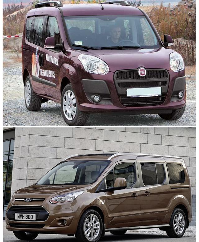 АвтомобилиFIAT Doblo и Ford Connect - какой же из минивэн лучше?