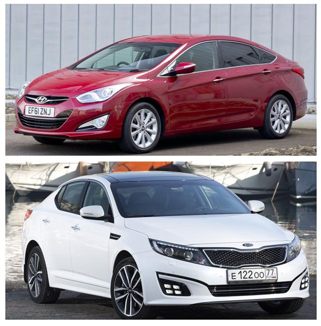 Автомобили КИА Оптима или Хендай i40 – одинаковые по цене и различные по характеристикам