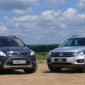Ford Kuga и Volkswagen Tiguan - кроссоверы, сочетающие в себе стиль и надёжность