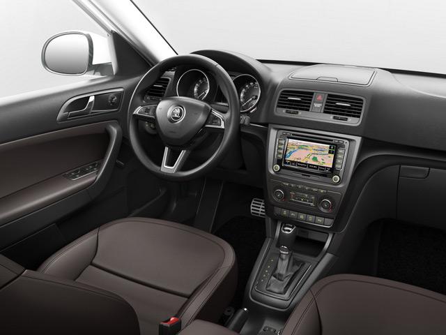 Škoda Yeti может похвастаться комфортабельным и практичным салоном