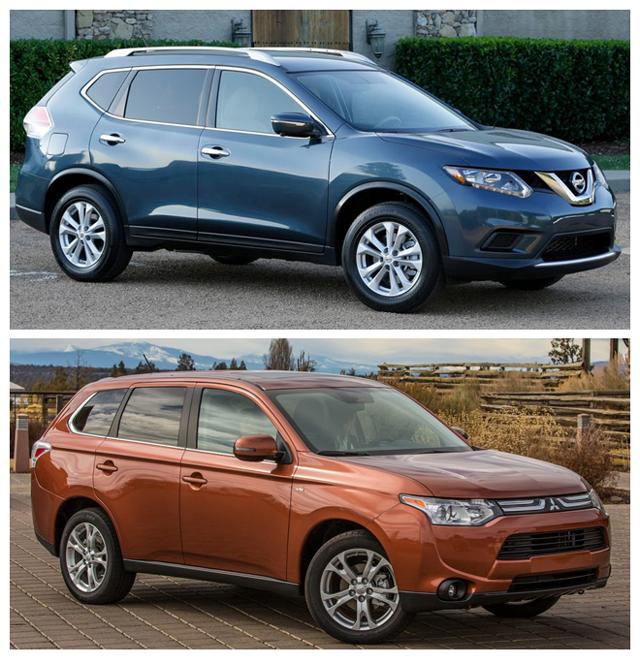 Ниссан Х-Трейл и Мицубиси Аутлендер - эти автомобили являются достойными представителями своих производителей