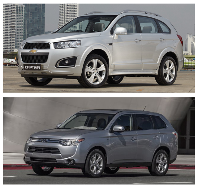 Практичный Chevrolet Captiva или мощный Mitsubishi Outlander - что выбрать?
