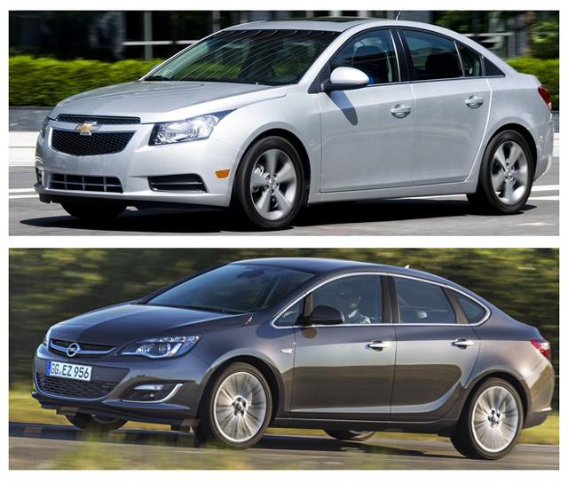 Автомобили Шевроле Круз или Опель Астра являются давними конкурентами на автомобильном рынке