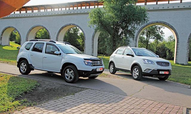 Renault Duster и SsangYong Actyon - два недорогих внедорожника