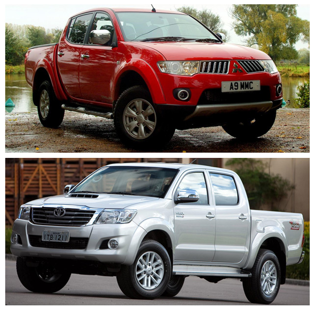 Автомобили из ряда лучших пикапов -Toyota Hilux и Mitsubishi L200