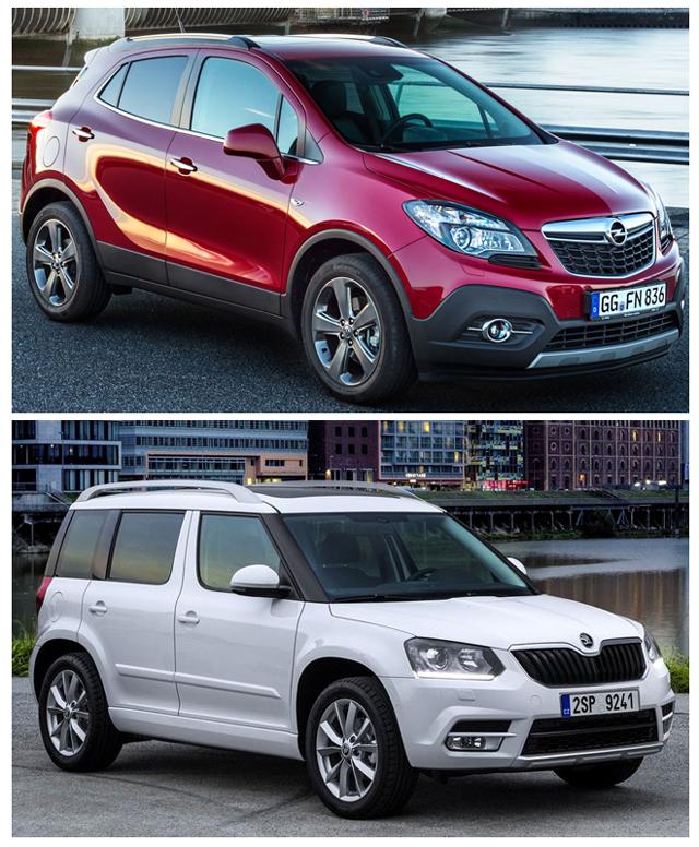 Несмотря на свои существенные различия, автомобили Опель Мокка и Шкода Йети очень популярны среди автолюбителей