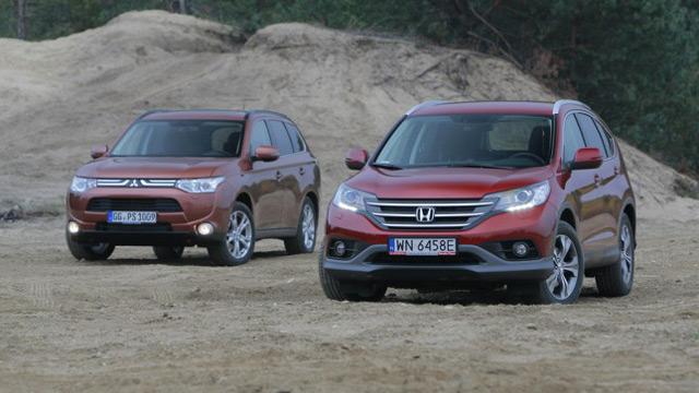 Mitsubishi Outlander и Honda CR-V - автомобили, которые могут похвастаться немалой популярностью среди паркетников