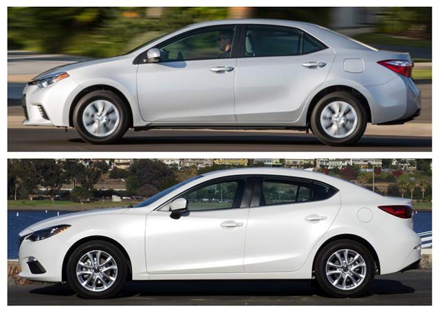Mazda 3 и Toyota Corolla - оба автомобиля могут похвастаться положительными особенностями