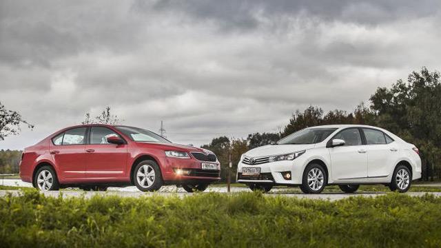 Автомобили Skoda Octavia и Toyota Corolla - достойные конкуренты из Европы и Японии