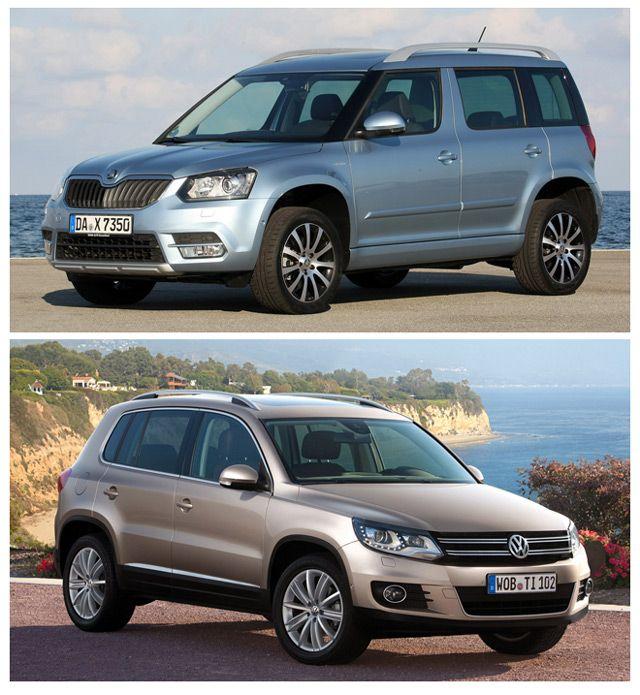 Skoda Yeti и Volkswagen Tiguan