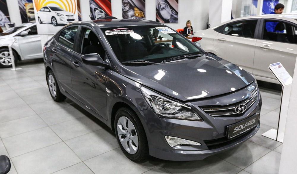 Внешний вид автомобиль Hyundai Solaris