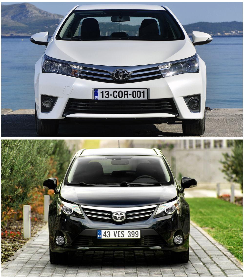 Toyota Corolla и Toyota Avensis