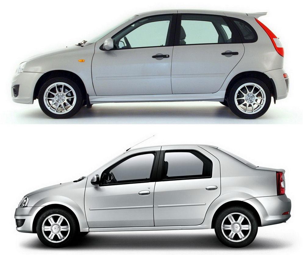 Renault Logan и Lada Kalina