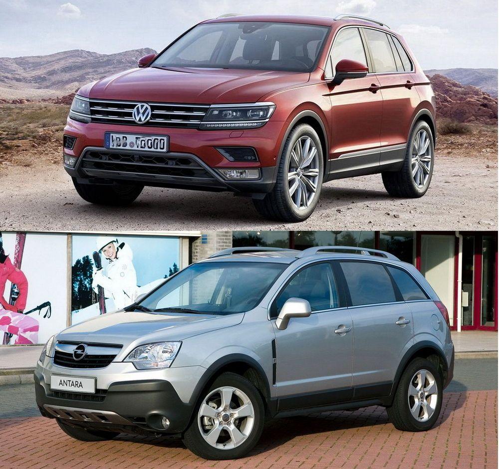 Volkswagen Tiguan и Opel Antara