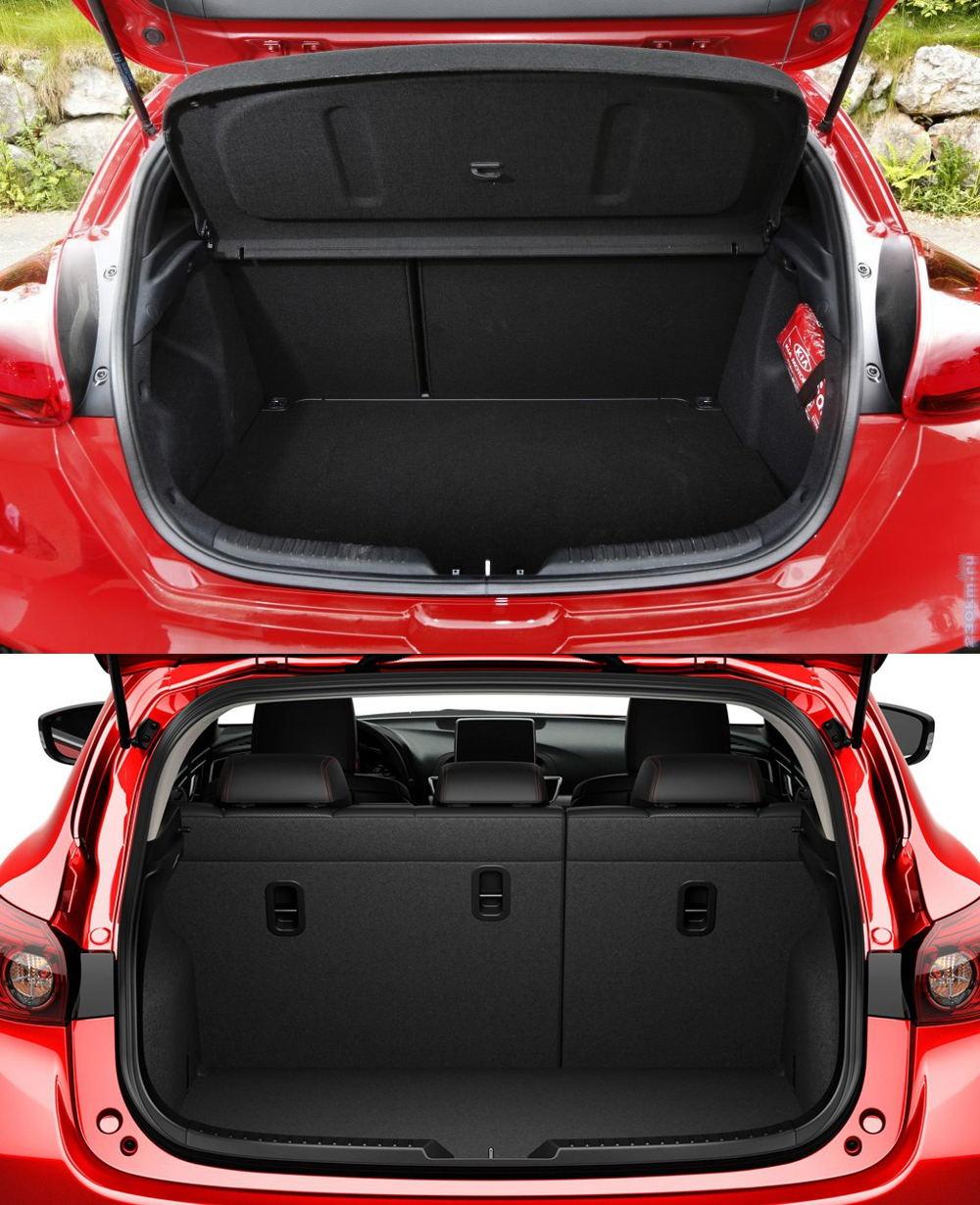 Багажник Kia Ceed и Mazda 3