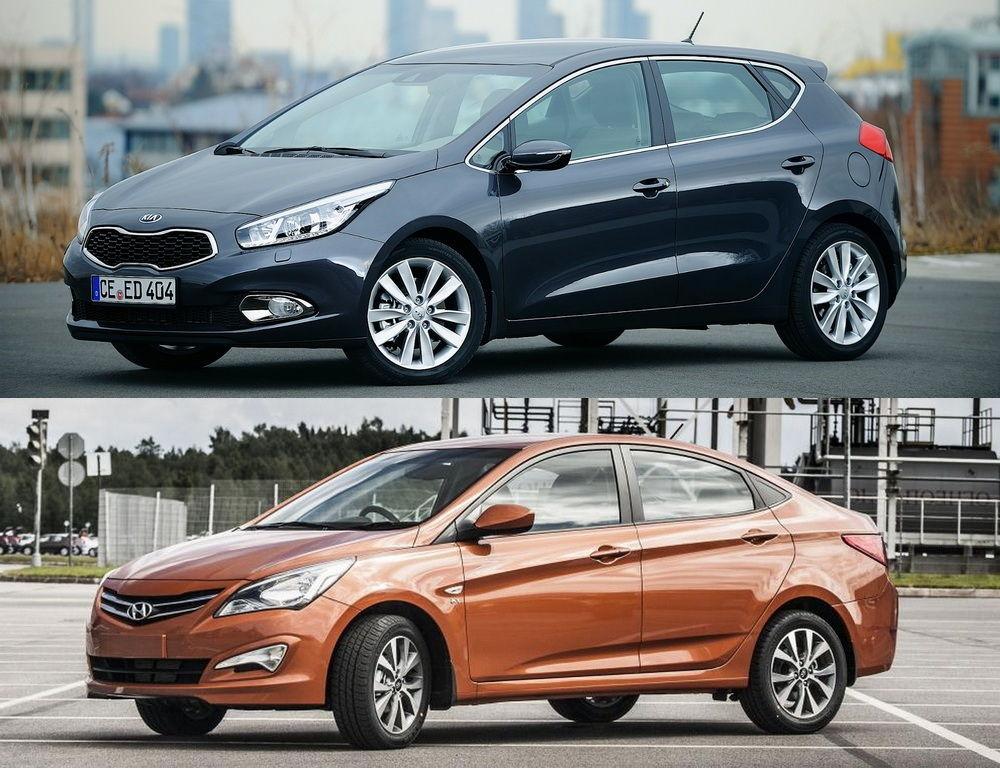 Kia Ceed vs Hyundai Solaris