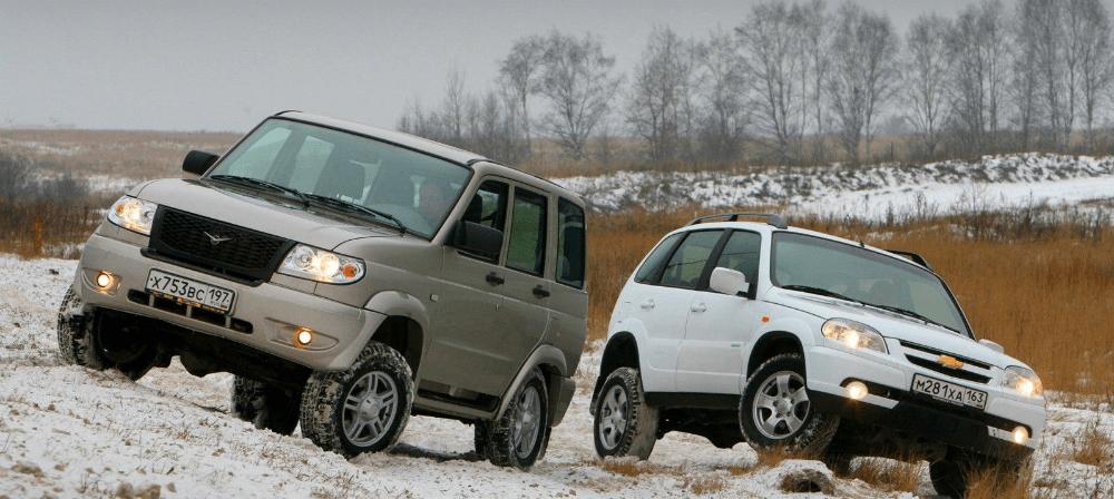 УАЗ Патриот и Шевроле Нива