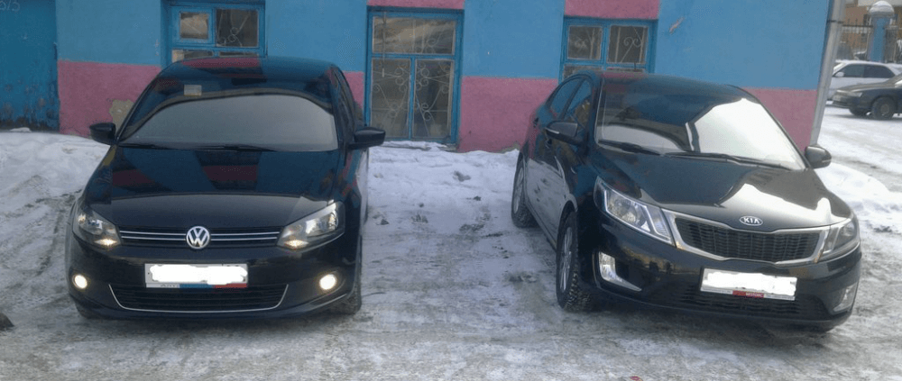 KIA RIO и Volkswagen Polo
