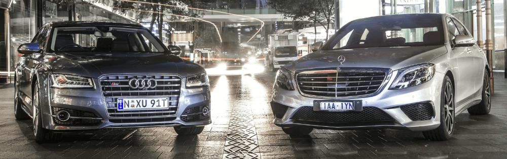Audi S8 и Mercedes-Benz S63