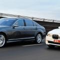 Mercedes S class BMW 7 series