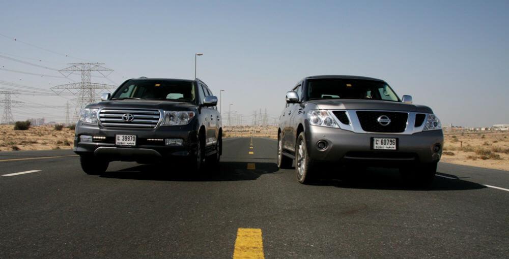 Toyota Land Cruiser 200 против Nissan Patrol