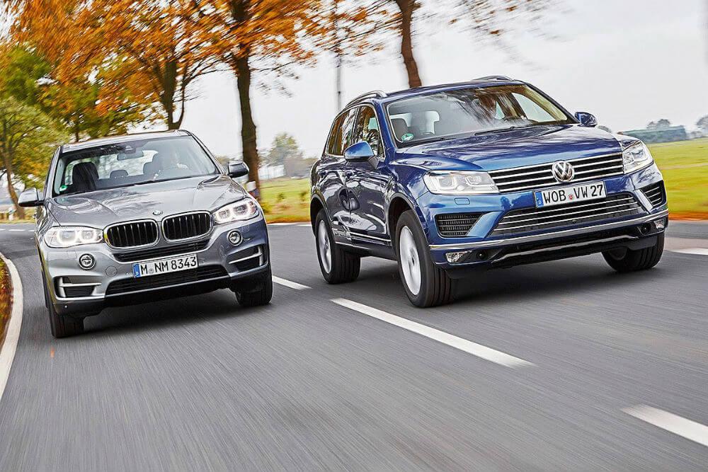 BMW X5 и Volkswagen Touareg