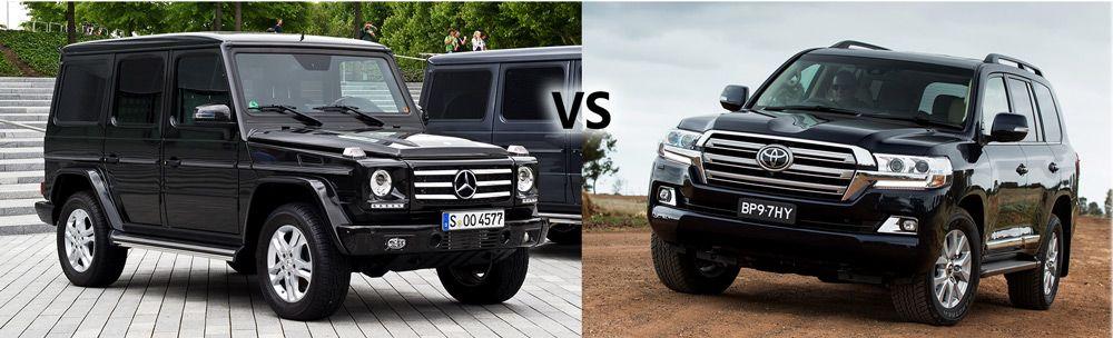 Mercedes-Benz Gelandewagen vs Toyota Land Cruiser 200