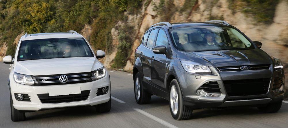 Ford Kuga и Volkswagen Tiguan