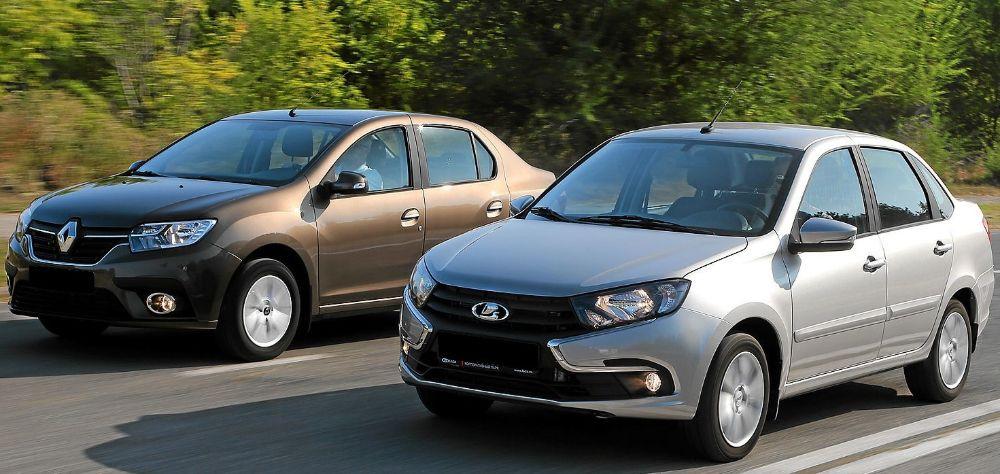 Renault Logan и Lada Granta
