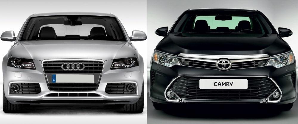 Audi A4 и Toyota Camry