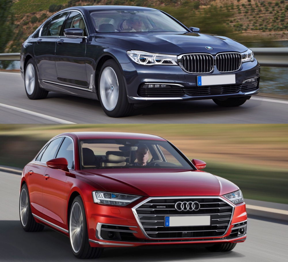 Audi А8 и BMW 7 Series