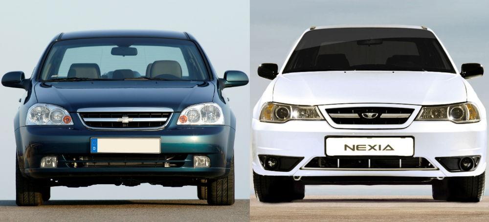 Daewoo Nexia и Chevrolet Lacetti
