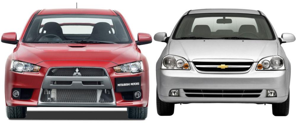 Chevrolet Lacetti и Mitsubishi Lancer