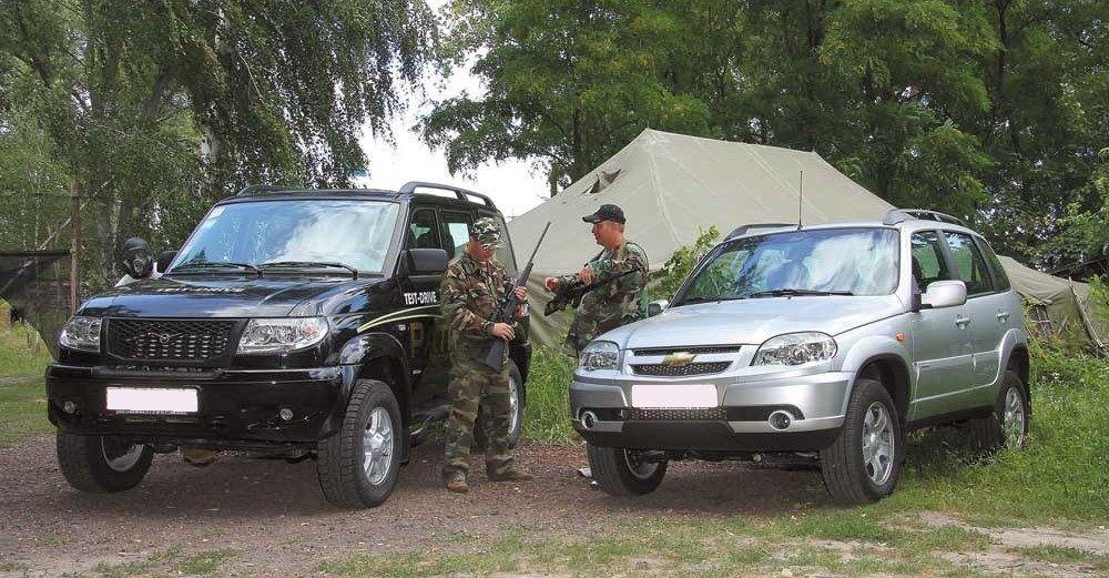 Chevrolet Niva и УАЗ Патриот