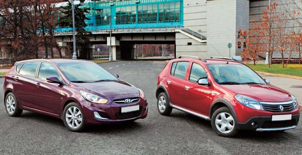 Hyundai Solaris и Renault Sandero
