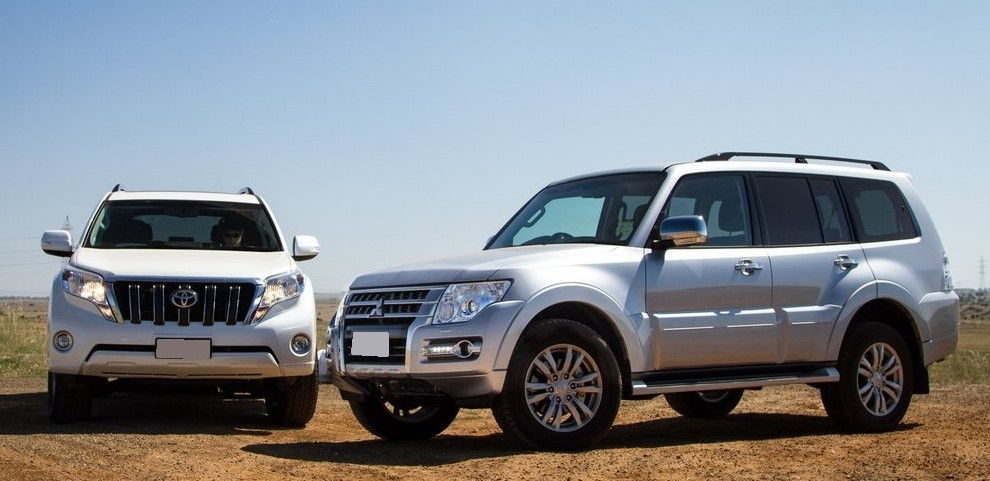 Mitsubishi Pajero и Toyota Land Cruiser Prado