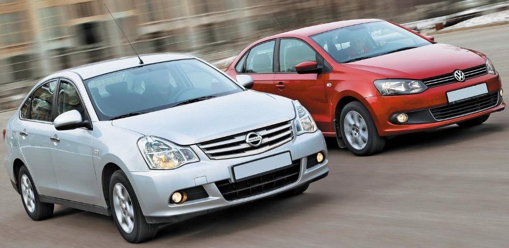 Nissan Almera и Volkswagen Polo