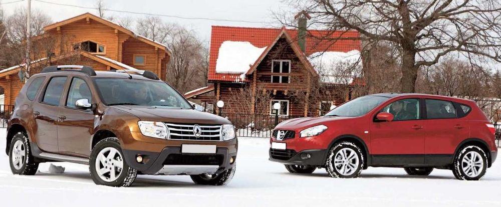 Nissan Qashqai и Renault Duster