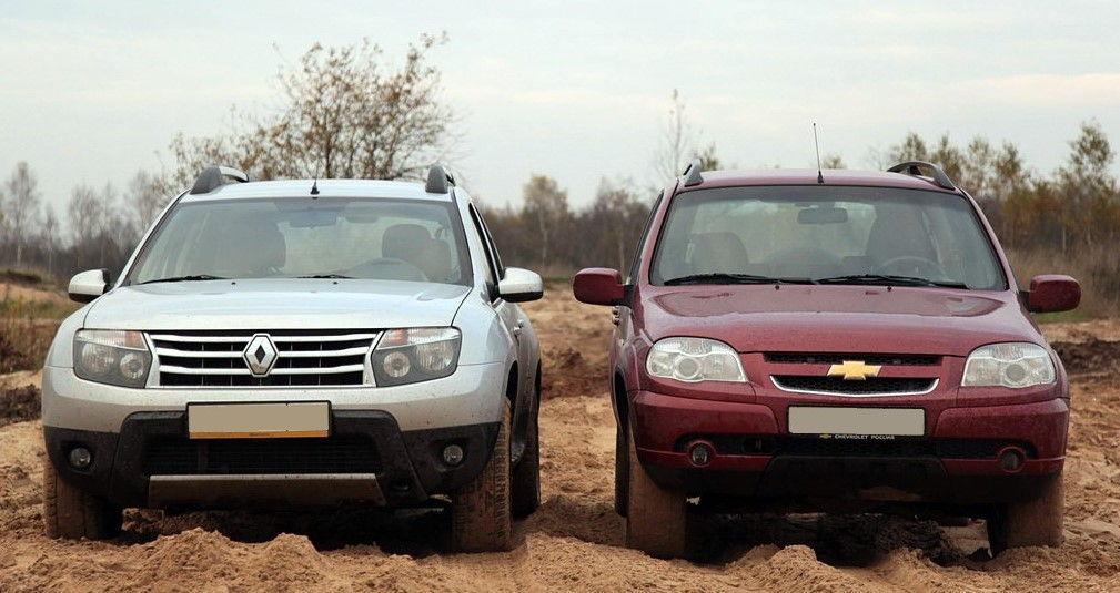 Renault Duster и Chevrolet Niva